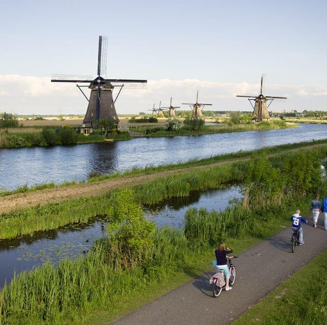 fietsen - fietsers - molens