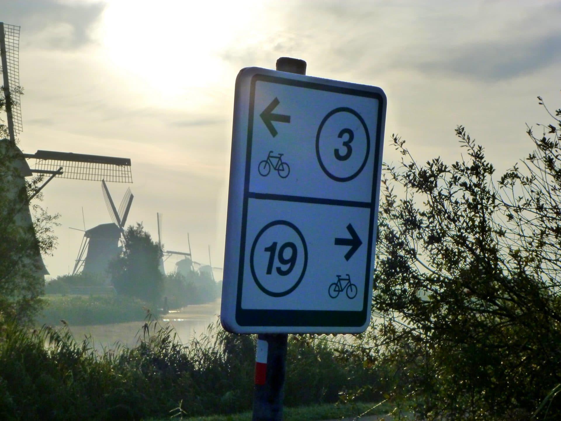molens - fietsroute - fietsroutenetwerk